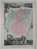 CARTE GEOGRAPHIQUE PROVINCE DE CONSTANTINE D'après la carte de Cassini , du dépot de la guerre , des ponts et chaussées et de la marine par M. ...