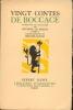 Vingt contes de Boccace. 1940. BOCCACE.