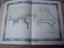 BRION DE LA TOUR  L . carte coloriée encadrée d'une belle bordure gravée Partie de la Normandie et de la Bretagne (15) Mont ST.Michel . BRION DE LA ...
