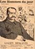 LES HOMMES DU JOUR, N° 43 LUCIEN DESCAVES. A. DELANNOY et FLAX (pseudonyme de VICTOR MERIC)