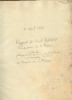 Rapport au Ministre de la Marine. MANUSCRIT original Joseph BERARD,Commissaire de Marine a Toulon,chargé de l'Inspection maritime au ministére de la ...