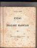 Essai Sur Le Folklore Marocain.. LEGEY (Doctoresse)