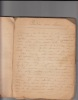 Cahier de recettes culinaires manuscrites. Anonyme