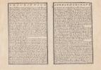 L'Europe Dressee sur les Observations de Mrs. de l'Academie Royale des Sciences- Carte gravée d'époque coloris époque avec feuillet de texte imprimé ...