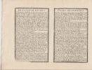 Carte Generale d'Italie et des Isles Adjacentes Tire des Bons Auteurs - Carte gravée d'époque coloris époque avec feuillet de texte imprimé joint ...