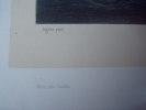 """""""Départ de TREPORT"""". XIXème. Lithographie par Sabatier & Bayot, d'après Jugelet. Papier Chine appliqué sur vélin. Imprimée par Lemercier, à Paris. . ..."""
