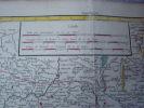 carte geographique PARTIE ORIENTALE DU GOUVERNEMENT GENERALE DE LA GUIENNE ou se trouvent le Quercy et le Rouergue. ROBERT DE VAUGONDY