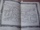 BRION DE LA TOUR  L .Partie de la Normandie. (10)  . carte coloriée encadrée d'une belle bordure gravée. BRION DE LA TOUR  L .