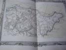 BRION DE LA TOUR  L .  Partie de la Normandie. (11). carte coloriée encadrée d'une belle bordure gravée. BRION DE LA TOUR  L .