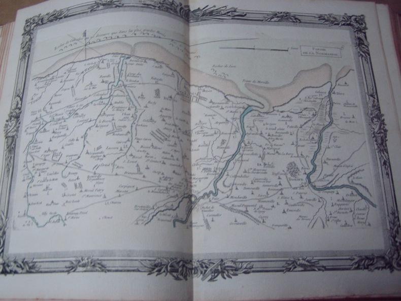 BRION DE LA TOUR  L . Partie de la Normandie. (8) . carte coloriée encadrée d'une belle bordure gravée. BRION DE LA TOUR  L .