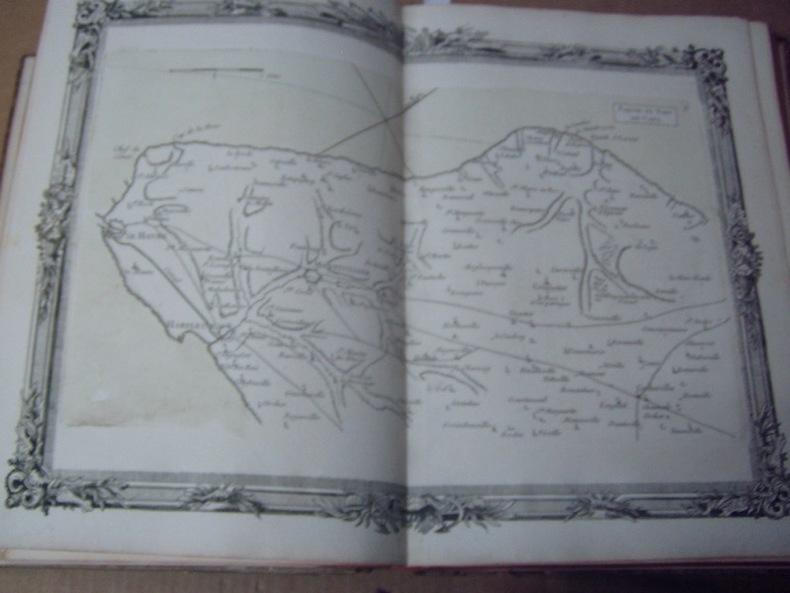 BRION DE LA TOUR  L .  Partie du Pays de Caux. (6). carte coloriée encadrée d'une belle bordure gravée. BRION DE LA TOUR  L .