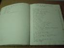 RECEUIL MANUSCRIT Mixte de 74 romances partitions manuscrites (arrangements pour guitare),titres et paroles relié avec 3 parties imprimées, pour lyre ...