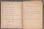 Cahier de recettes culinaires manuscrites : recettes de madame Josephine copiées par G.VIELLARD. VIELLARD G;
