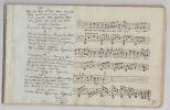 RECEUIL MANUSCRIT de romances partitions manuscrites (arrangements pour guitare). collectif