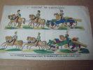 1er tableau de l'artillerie,(cavalerie),image d'Epinal. images d' epinal