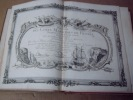 BRION DE LA TOUR  L .  Partie de la BRETAGNE. (33). carte coloriée encadrée d'une belle bordure gravée. BRION DE LA TOUR  L .
