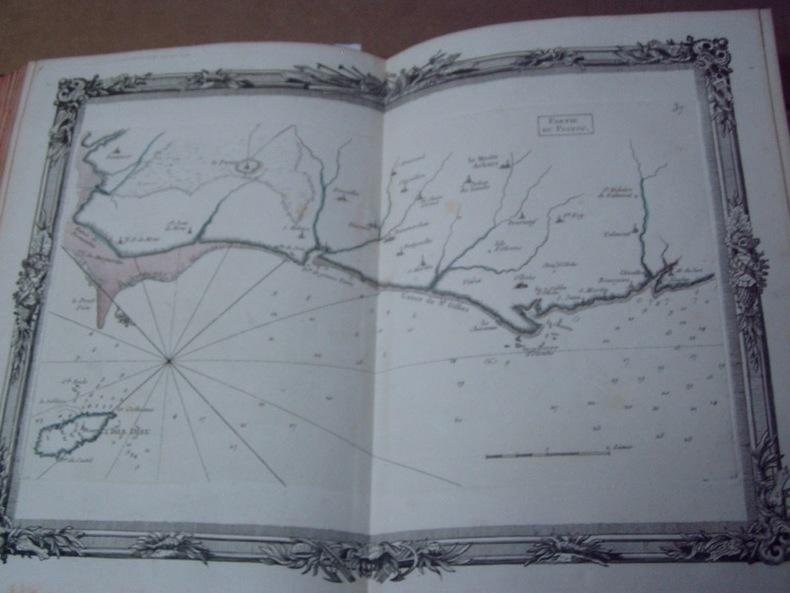 BRION DE LA TOUR  L .  Partie du POITOU. (37). carte coloriée encadrée d'une belle bordure gravée. BRION DE LA TOUR  L .