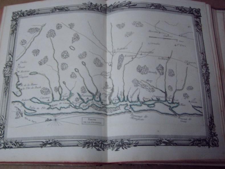 BRION DE LA TOUR  L .  Partie de la GUYENNE (42). carte coloriée encadrée d'une belle bordure gravée. BRION DE LA TOUR  L .