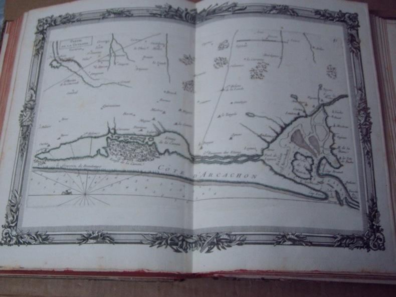 BRION DE LA TOUR  L .  Partie de la GUYENNE. (41). carte coloriée encadrée d'une belle bordure gravée. BRION DE LA TOUR  L .