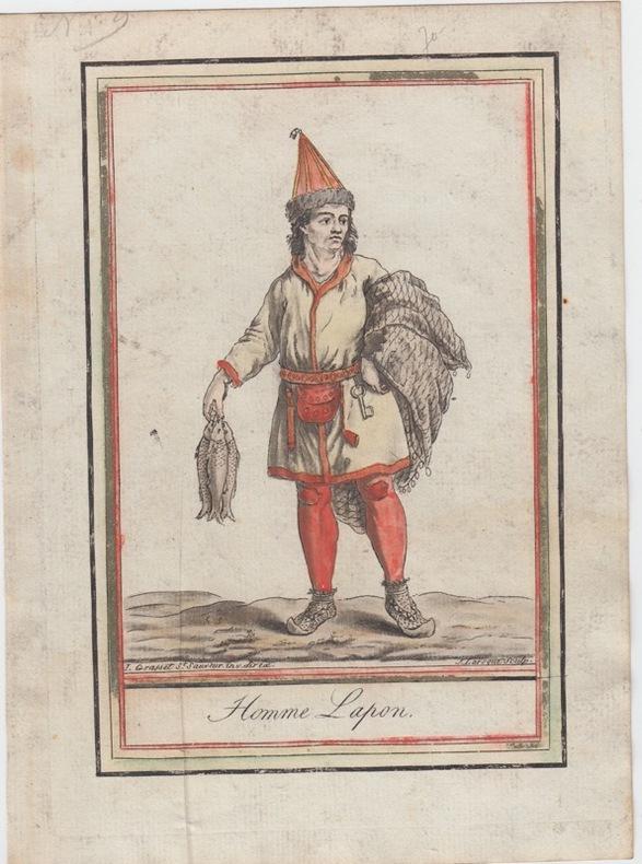 Homme Lapon.Costumes civils actuels de tous les peuples connus, dessinés d'après nature, gravés et coloriés, accompagnés d'une note historique sur ...