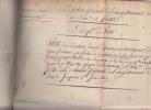INSTRUCTIONS GENERALES N° 873 à 915 / 1819 forêts; documents admistratifs signés. Baron BARRAIRON Directeur géneral  de l'Enregistrement et Des ...