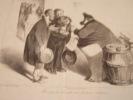 Récompense honnête aux électeurs obéissans..Lithographie originale.. Honoré Daumier (1808-1879).