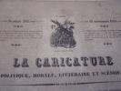 Un rentier des bons royaux. Un rentier des Cortès. - Lithographie originale.. Honoré Daumier (1808-1879).