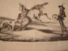 La jument du prince et le chien de la princesse. - Lithographie originale.. Honoré Daumier (1808-1879).