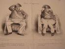 "TETES D'EXPRESSIONS - Heads of expressions Charles Joseph Traviès de Villers, dit Traviès (1804-1859). Caricature de presse. ""Têtes d'expressions"". ..."