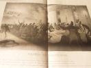 Le festin de Balthazar.  Lithographie originale.. TRAVIES - Talleyrand