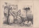 GRANVILLE /FOREST N°135- le divorce d'harpagon et de la liberté -La Caricature (morale, religieuse, littéraire et scénique),journal fondé et dirigé ...