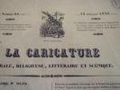 Monsieur harpagon voudrait tirer quelque chose de ses vieilles perruques, les achèteriez vous ? lithographie originale. Traviès de Villers,Charles ...