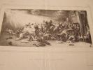 LE FESTIN DE BALTHASAR -- Lithographie originale en noir sur Velin blanc.. Auguste Bouquet,BOUQUET TALLEYRAND