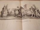 Les feuilles publiques (Suite) et leurs souteneurs - Lithographie parue dans La Caricature politique, morale, littéraire et scénique, volume 6, 10 ...