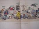 Règne animal (3)- CABINET D'HISTOIRE NATURELLE. (suite) : (3 )- Lithographie, Coloriée -. Grandville (Nancy, 15–09–1803 - Vanves, 17–03–1847)