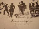 Fantasmagorie, Politiquo burlesque -Lithographie originale en noir sur Velin blanc.. Fontallard, Henri-Gérard (Paris, en 1798 - Paris, après 1840), ...