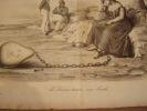 La France traine [traîne] son boulet - Lithographie sur blanc-. Roubaud, Benjamin (dit Benjamin)