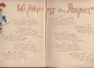 Cahier de chansons de soldat manuscrit , avec dessins aquarellés,. Anonyme