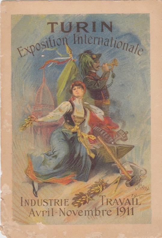 C.P.- Jules CHERET - Exposition de Turin, avril - novembre 1911. Éd. J. Barreau à Paris. Imp. Chaix, . Jules CHERET