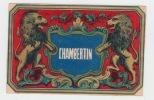 Chambertin ancienne étiquette vin Bourgogne -  Etiquette dorée aux lyons - litho originale fin XIXe,.