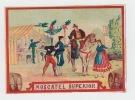 ancienne étiquette vin Moscatel superior -  Etiquette coloriée scene tauromachie - litho originale fin XIXe,.