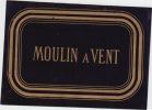 ancienne étiquette vin Moulin à Vent fond noir violet fonçé.