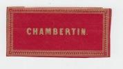 Chambertin ancienne étiquette vin Bourgogne -  Etiquette dorée fond rouge - litho originale fin XIXe,.