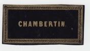 Chambertin ancienne étiquette vin Bourgogne -  Etiquette dorée fond violet fonçé - litho originale fin XIXe,.