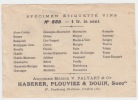Chambertin ancienne étiquette vin Bourgogne -  Etiquette dorée  - litho originale fin XIXe,.