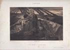 COLOMB RAMENE DU nouveau Monde - Lithographie originale en noir sur Velin blanc.. NANTEUIL C.,