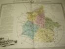 Carte du Département des ARDENNES avec vue de Mézieres  dréssée par Donnet. DONNET ,FREMIN et LEVASSEUR ou DONNET and MONIN