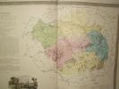 Carte du Département de l' AUBE avec vue de Troyes  dréssée par Donnet. DONNET ,FREMIN et LEVASSEUR ou DONNET and MONIN