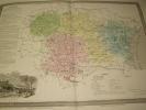 Carte du Département de l'AUDE avec vue de Carcassonne  dréssée par Donnet. DONNET ,FREMIN et LEVASSEUR ou DONNET and MONIN