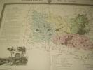 Carte du Département de l'OISE avec vue de Beauvais dréssée par Donnet. DONNET ,FREMIN et LEVASSEUR ou DONNET and MONIN